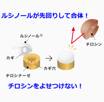 ルシノールのメラニンロック説明画像